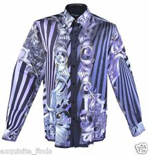 New VERSACE 100% Silk Digital Barocco print Shirt sz 40