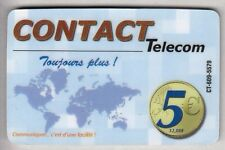 DOM-TOM  TELECARTE / PHONECARD  .. ILE GUADELOUPE 5€ CONTACT PLUS MAP CT-609 +N°
