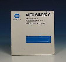 Minolta AUTO WINDER G Bedienungsanleitung manual mode d'emploi EN GER FR - 90286