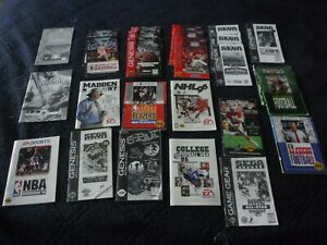 Lot of 27 Sega Genesis Manuals and some inserts