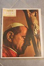 Paris match n°819 -1964 - Elsa La Lionne - Pape à Bombay avec poster du Pape