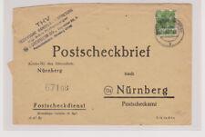 Bizone/Band-Netzaufdruck,Mi. 39II EF,Postscheckbf Forchheim/Ofr. 11.7.48, links