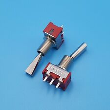 2pcs T7013 U 3pin On On 2 Positions Flat Lever Spdt Pcb Mini Toggle Switch