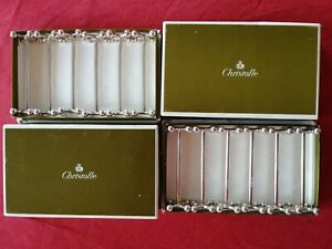 PERLES Christofle set of 12 knives rests + boxes