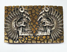 Gago Bronze And Silver Belt Buckle