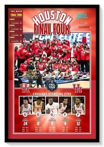 2021 FINAL FOUR TEAM: HOUSTON COUGARS (28-3) COMMEMORATIVE POSTER