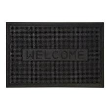 Welcome Design Black Rubber Doormat Non Slip Outdoor Front Door Heavy Duty Mat