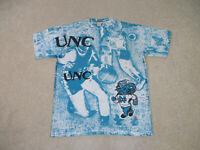 VINTAGE North Carolina Tar Heels Shirt Adult Small All Over Print Basketball 90s