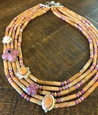 JAY KING Apricot Stone, Ginger Flower Stone & Garnet Necklace, Sterling Silver
