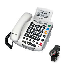 Geemarc Amplified Emergency Corded Big Button Phone with SOS Bracelet & Pendant