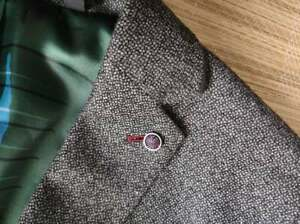 Ted Baker grey dotted pattern blazer size 5 - Wool mix, with pin