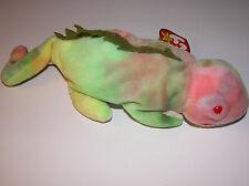 Original-Ty-Beanie-Baby-Iggy Has ERRORS-Retired-Iguana withTag