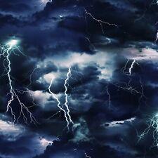 Lightning Bolt Fabric BTY, Landscape Medley, Cotton,  469E-BLK,  TheFabricEdge
