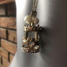 Collar De Disfraz De Oro carrusel de caballos, declaración, Negrita, caballo, largo, Diamonte