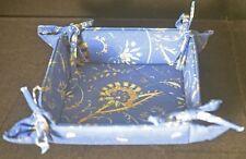 SOULEIADO LOVELY FLORAL VINTAGE CLOTH TRINKET BOX w/ TIES TT880