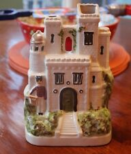 Antique Victorian Staffordshire Pottery House Cottage Figure with Guard
