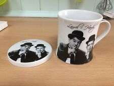 Laurel and Hardy mug and coaster set
