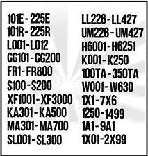 Chicago File Cabinet Keys 1250-1499 1A1-9A1 1X01-1X99 FR1-FR800 S100-S200