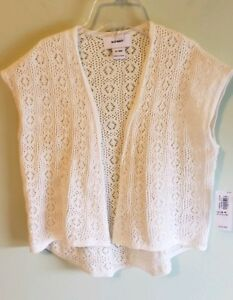NEW Old Navy Girls 12-18 MONTHS Open Front Kimono Cardigan Sweater CREAM #32118