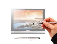 Sleek Silver Stylus & Ball-Point Pen for Lenovo Yoga 10 & 8 w/ Soft Rubber Tip