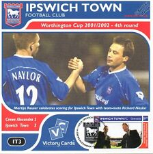IPSWICH TOWN 2001-02 Crewe (Martijn Reuser) Football Stamp Victory Card #103