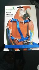 Parrot Exercise Harness Large Blue - Macaws, Cockatoos - 4931