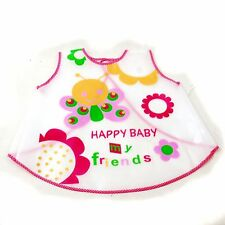 New Waterproof EVA Baby Toddler Easy Wipe sleeveless apron art smock girl