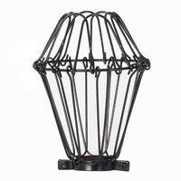 Powder Coated Black Wire Cage for inspection trouble pendant light | Bulb Guards