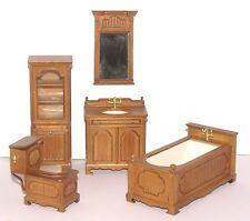 DOLLHOUSE MINIATURES Heirloom Collection Vintage Style Bathroom Set 1:12 Scale