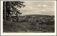 Friedrichroda Thüringen DDR Postkarte ~1950/60 Blick vom Philosophenweg