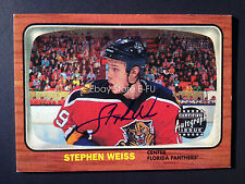 2002-03 Topps Heritage STEPHEN WEISS Panthers Autograph Beautiful Blue Ink Auto