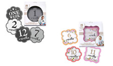 Baby milestone stickers grey or pink baby boy or girl baby shower party gift