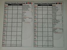 Canasta 50 Sheet Score Pad for American or Classic Bicycle Canasta Lot Size 1-10