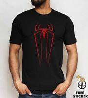 Spiderman logo T shirt Cool Superhero Inspired Gift Present Top Adult Kids Tee