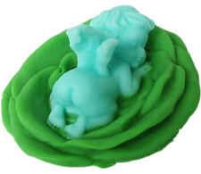 Baby In Lotus Flower Soap Mould Flexible Silicone Cookie Mold Chocolate R0641