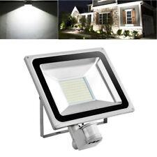 100W PIR Motion Sensor LED Flood Light Cool White Outdoor Security Garden Lamp