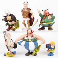New 6pcs/set The Adventures Of Asterix Figures Cartoon PVC Cake Topper Kids Gift