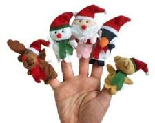 Christmas Santa Snowman Baby Stories Helper /Finger Puppets Toy Doll