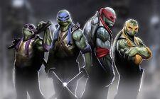 """Teenage mutant ninja turtles 2014 Movie  Fabric poster 40"""" x 24""""  Decor 02"""