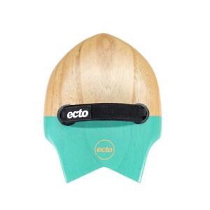 "Ecto Bodysurfing Handplane - FLY Fish Wood 9"" (Turquoise Green) - FREE SHIPPI..."