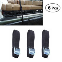 6pcs 8ft Cargo Luggage Lashing Strap Ratchet Belt Tie Down Cam Buckle Roof Rack