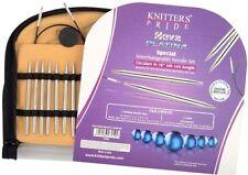 """Knitter's Pride Nova Platina Special Circular Knitting Needles 16"""" set - REFURB"""