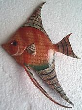 Tropical Fish Wall Plaque Tiki Bar Beach Pool Nautical Decor Size 8.75 in AFTW2