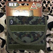 New Bt Universal Molle Paintball Vest Id Pouch - Woodland Digi Camo
