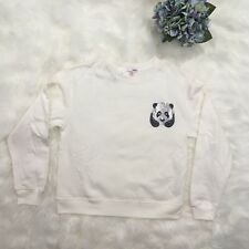 Cream Sweater Sequin Panda Size M NWT Bongo soft N