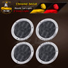 """Smoked Lens 2 Amber + 2 Red 12 LED 4"""" Round Surface Stop Turn Tail Light Bus 12V"""