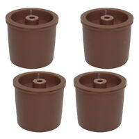 4x Stainless Steel Filters Refillable Coffee Capsules Pod Cup For Illy Brown