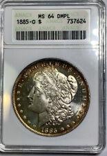 1885-O Morgan Dollar ANACS MS64 DMPL Old Small Holder
