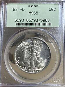 1934-D OGH! PCGS MS65 Walking Liberty Half Dollar