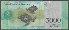 Venezuela - 5000 Bolivares 23. 3. 2017 UNC - Pick New, new date